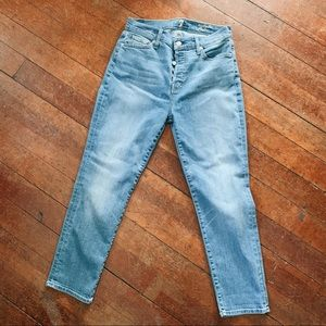 7 For All Mankind hi rise ankle skinny jeans 27